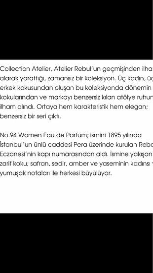 Manu Atelier Atelier Rebul No:94 Eau de Parfüm
