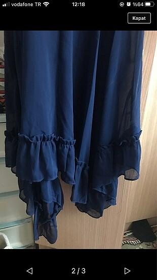 Koton Şifon astarlı 1 kez giyildi midi boy kusur leke yırtık yok