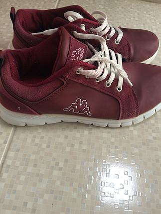 Bordo spor ayakkabı
