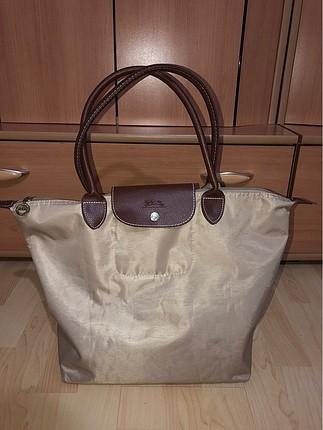 Longchamp krem rengi çanta