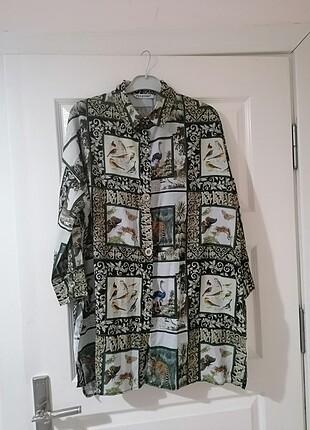 Desenli safari gömlek