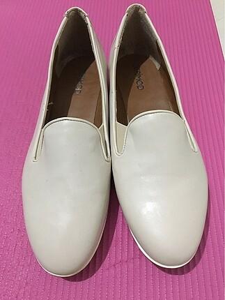 Derimod Taş Rengi Deri Ayakkabı