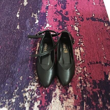 Enes siyah babet ayakkabı