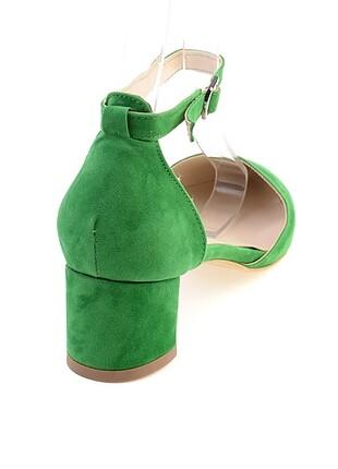 37 Beden yeşil Renk Topuklu ayakkabı