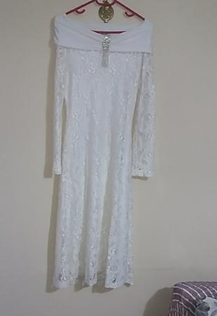 saten marka dantel elbise