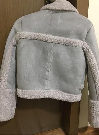 Bershka Bershka xs beden içi kürklü mont ceket