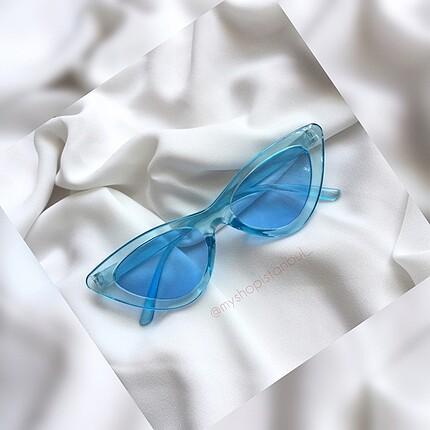 Mavi Cateye Güneş Gözlüğü