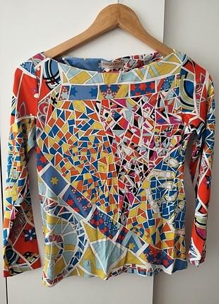 Renkli bluz
