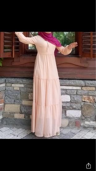 Şifon uzun elbise