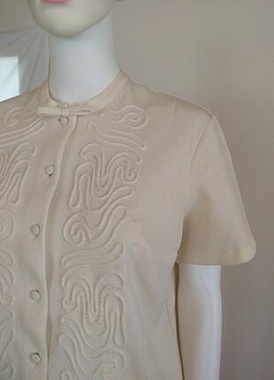 l Beden ten rengi Renk Vintage bluz