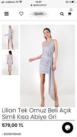 Spazio abiye elbise
