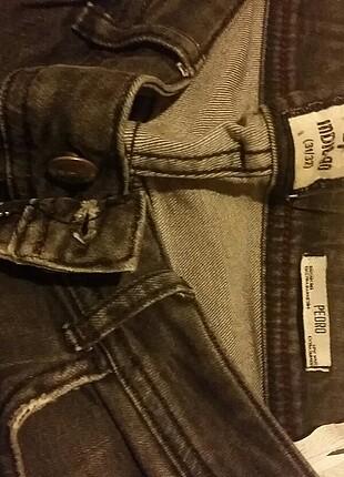 likralı kalın koyu gri kot pantolon 40 beden bacak arası tsmir