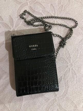 Siyah deri klasik çanta