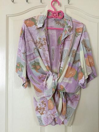 universal Beden çeşitli Renk Vintage gömlek/kimono