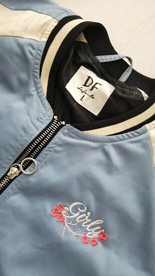 l Beden mavi Renk İşlemeli spor şık ceket