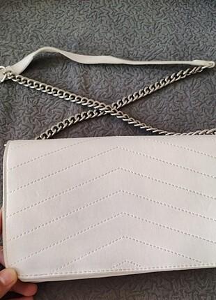 Bershka Beyaz Çanta
