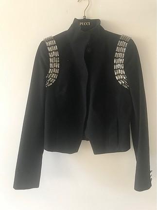 Tory Burch taş işlemeli mont-ceket