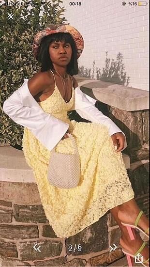 H&M sarı elbise