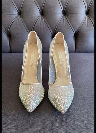 Marcatelli gelin topuklu ayakkabı