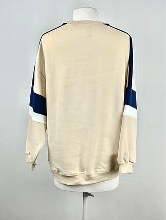 m Beden Yazı Detaylı Sweatshirt