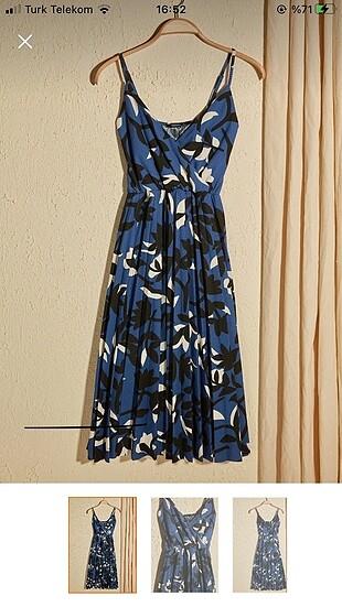 Çiçek desenli örme elbise