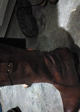 Çizme alçak topuk