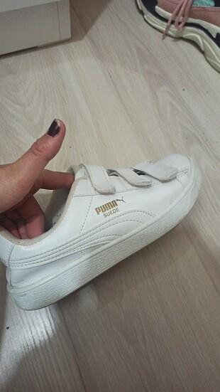Orjinal beyaz puma ayakkabı