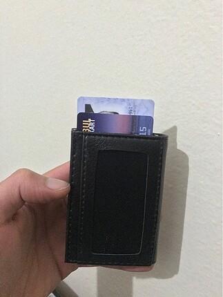 Beden siyah Renk Deri cüzdan kartlık mekanizmalı sıfır ürün