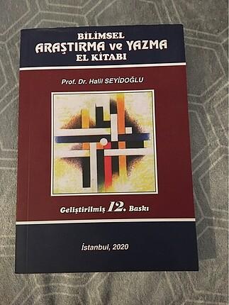Halil Seyidoğlu bilimsel araştırma ve yazma el kitabı.