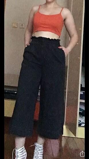 Beli lastikli bol pantolon