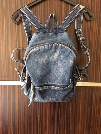 Mavi jean çanta