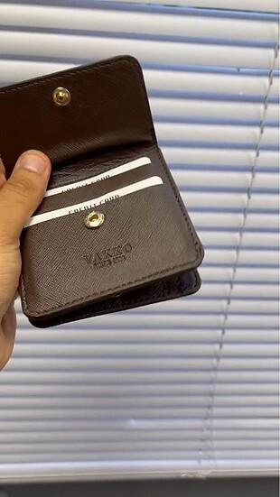 Beden siyah Renk Vakko mini cüzdan