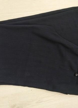 Siyah çizgili kumaş pantolon