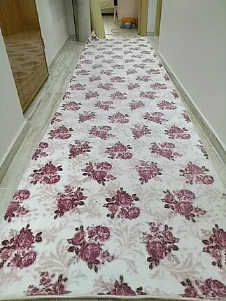 Çiçekli 4 metre kaydırmaz yolluk