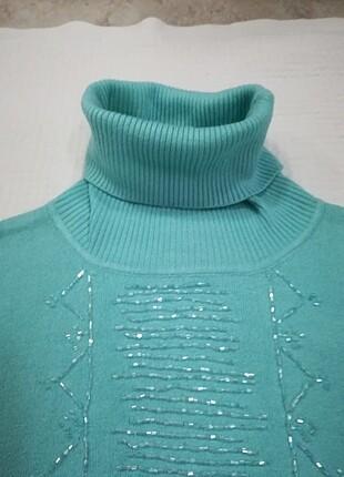 Perlina turkuaz bluz