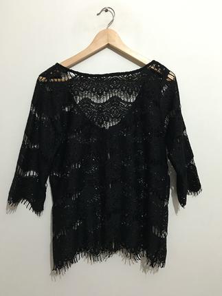 Zara woman dantel bluz