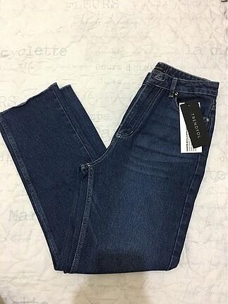 Trendyol milla lacivert straight jean yeni ve etiketli.