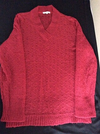 Kırmızı,angora yün,XL beden kazak