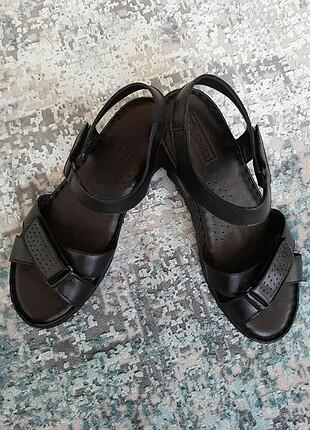 Deri comfort sandalet