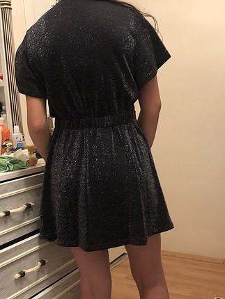 Simli parti elbise sıfır