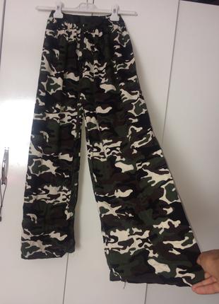 Yüksek bel kamuflaj pantolon