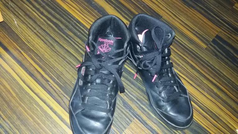 reebok ayakkabi siyah-pembe