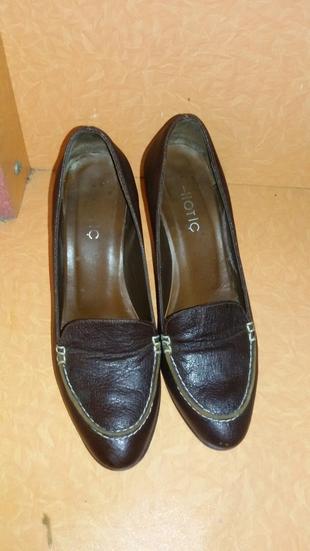 hotic kahverengi deri ayakkabı