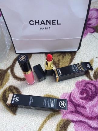Chanel ruj ve lipgloss set