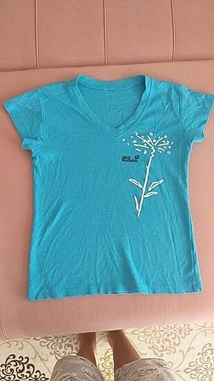 Mavi baskılı tişört