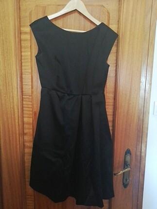 Siyah Alberta Ferretti elbise