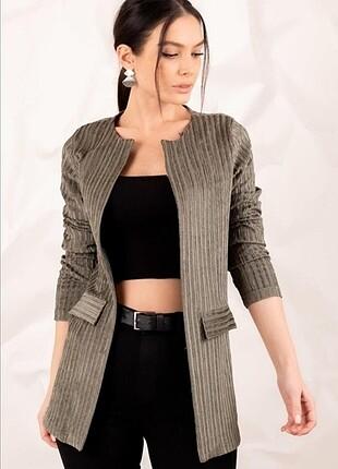 Haki blazer ceket