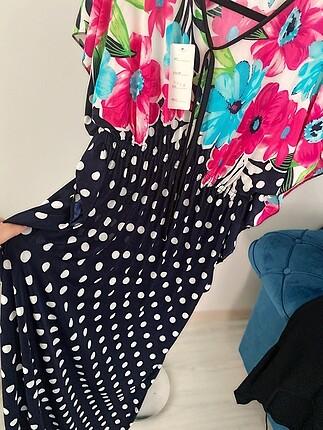 Standart beden yazlık uzun elbise