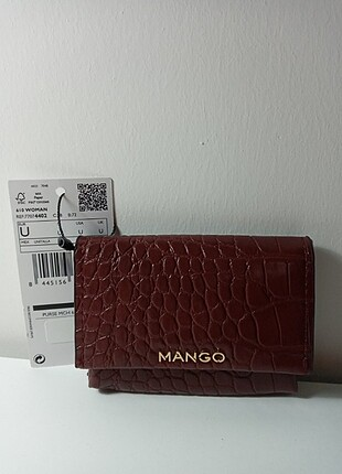 Mango timsah derisi desenli cüzdan