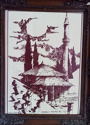 Zara Home Ahşap çerçeveli baskı tablo
